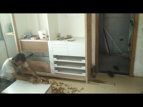 Sliding wardrobe almari कैसे बनाये ? How to make sliding wardrobe for bedroom and house
