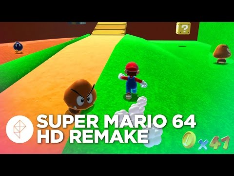 Exploring a 1080p Bob-omb Battlefield in Super Mario 64 HD