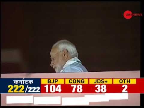 Watch: PM Modi and BJP Chief Amit Shah at BJP headquarters in New Delhi
