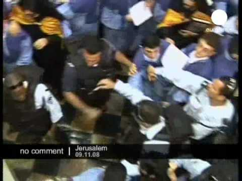 Clash in a church in Jerusalem