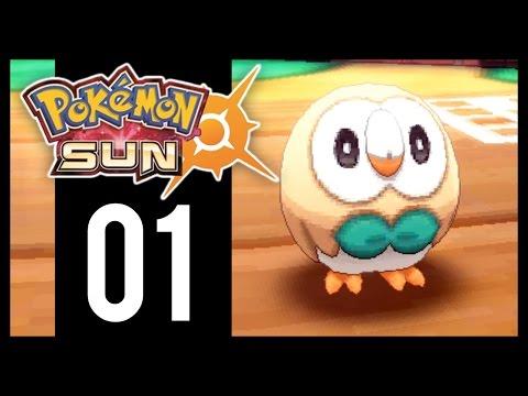 Pokemon Sun and Moon - Gameplay Walkthrough Part 1 - Alola Starters (3DS)