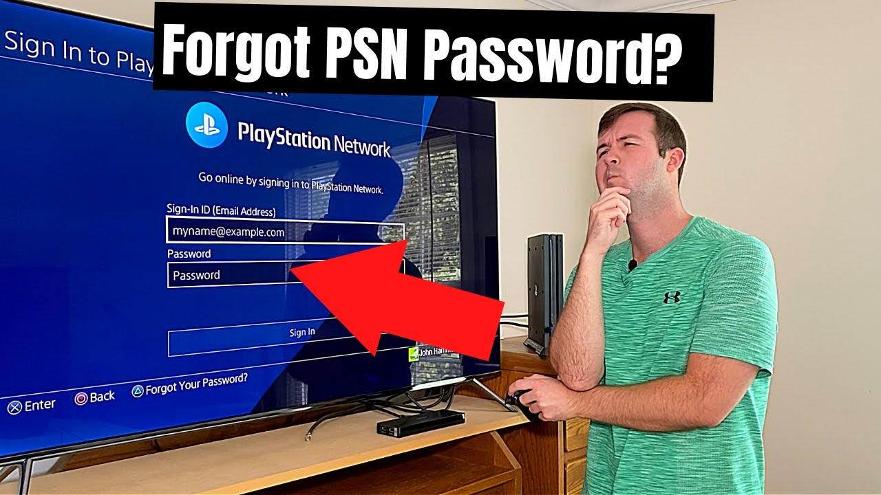 Password Reset From Primary Ps4 How To Log Back In To Playstation Network In Case You Forgot It Youtube