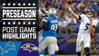 Lions vs. Ravens | Game Highlights | NFL