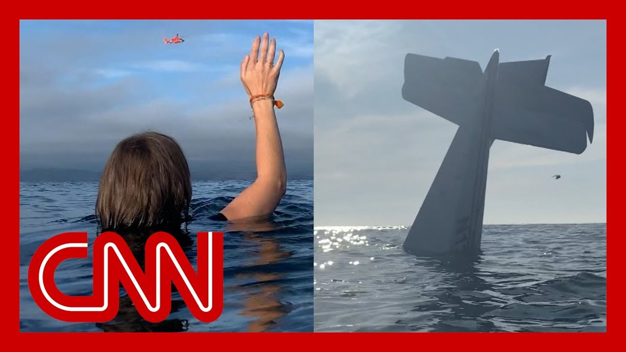 CNN:See moment plane crashes into ocean