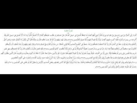 SURAH AL-BAQARA #AYAT 246-252: 29th August 2018
