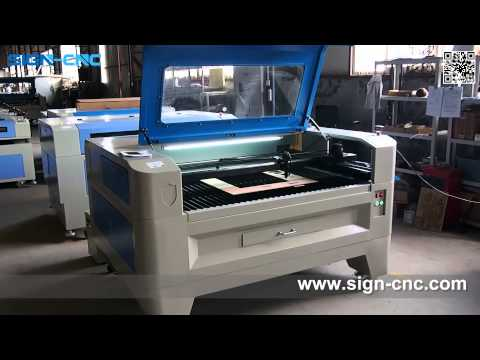 SIGN-1390 90W laser engraving and cutting plywood, Laser machine from China
