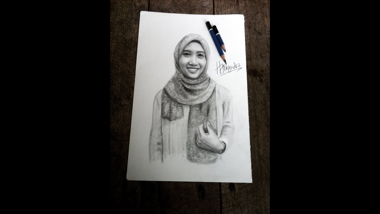 Drawing Realistic Woman Face With Pencil Cara Menggambar Wajah