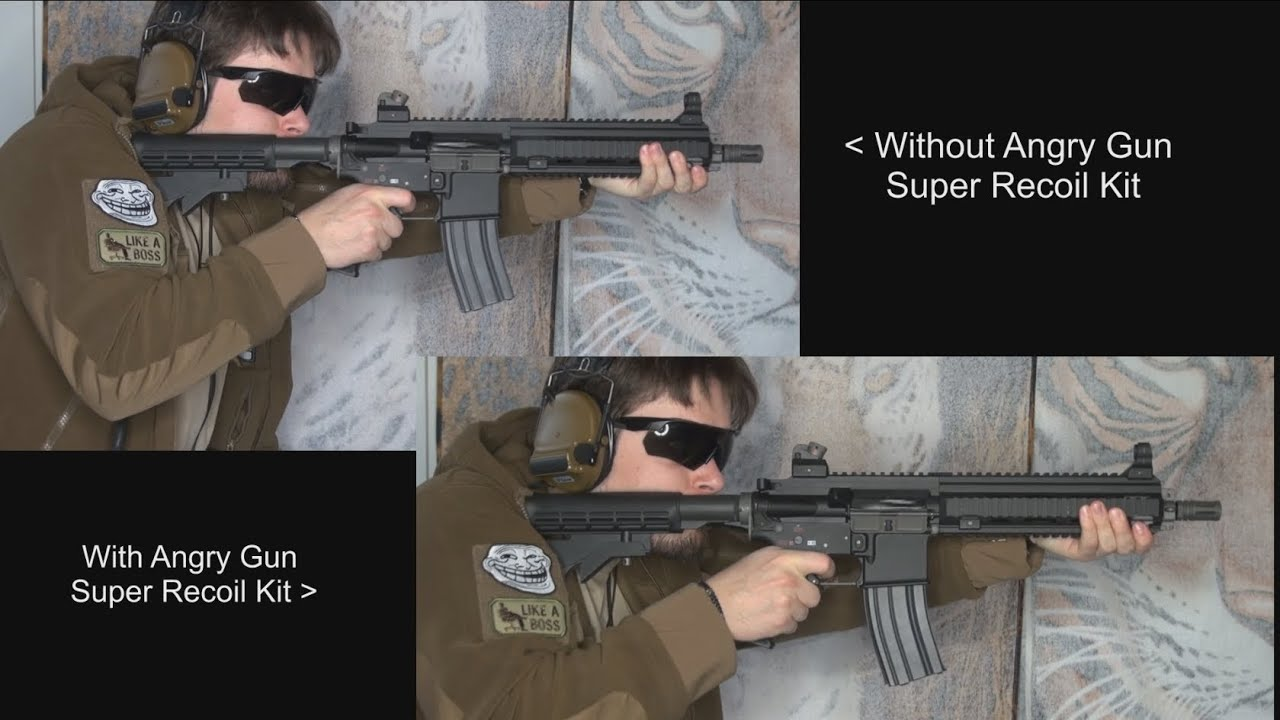 Airsoft Angry Gun Super Recoil Kit For We Gbbr M4 Serie Khanseb Youtube