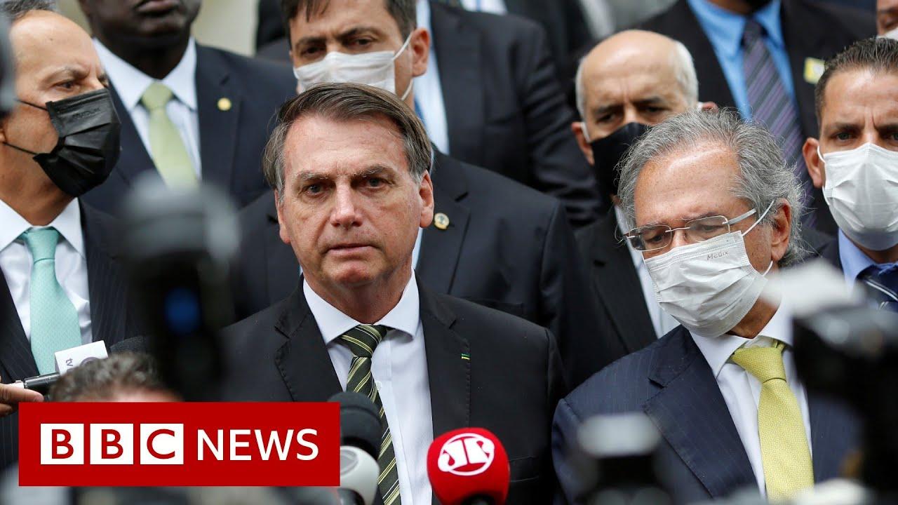 Coronavirus advice ignored by Brazil's President Jair Bolsonaro - BBC News