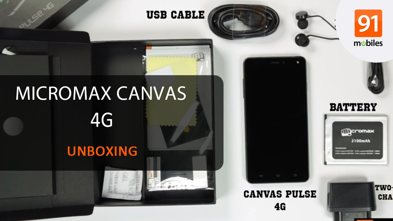 detailed look a8949 d9734 Micromax Canvas Pulse 4G E451: Unboxing [Quick]