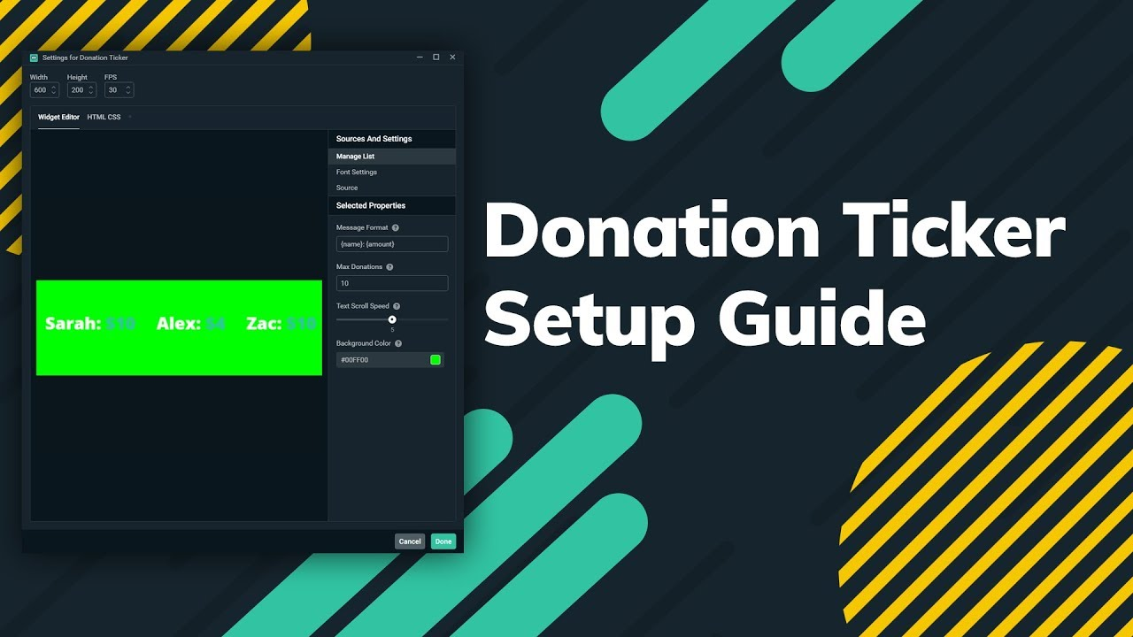 How to Set Up the Streamlabs Donation Ticker