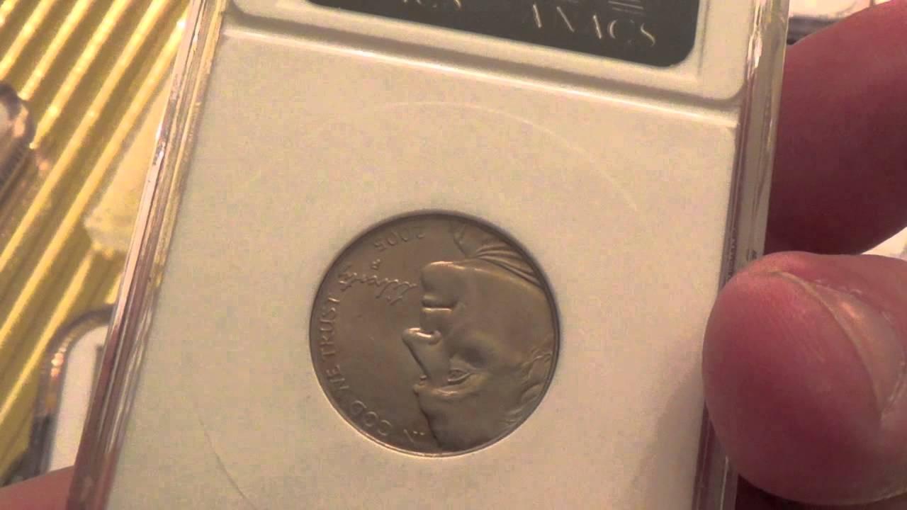 2005 Bison Buffalo Error Coin   Detached Leg