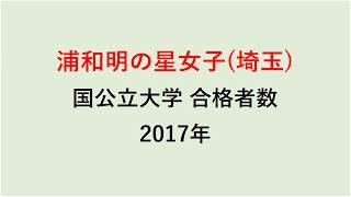 浦和明の星女子高校 大学合格者数 2017~2014年【グラフでわかる】