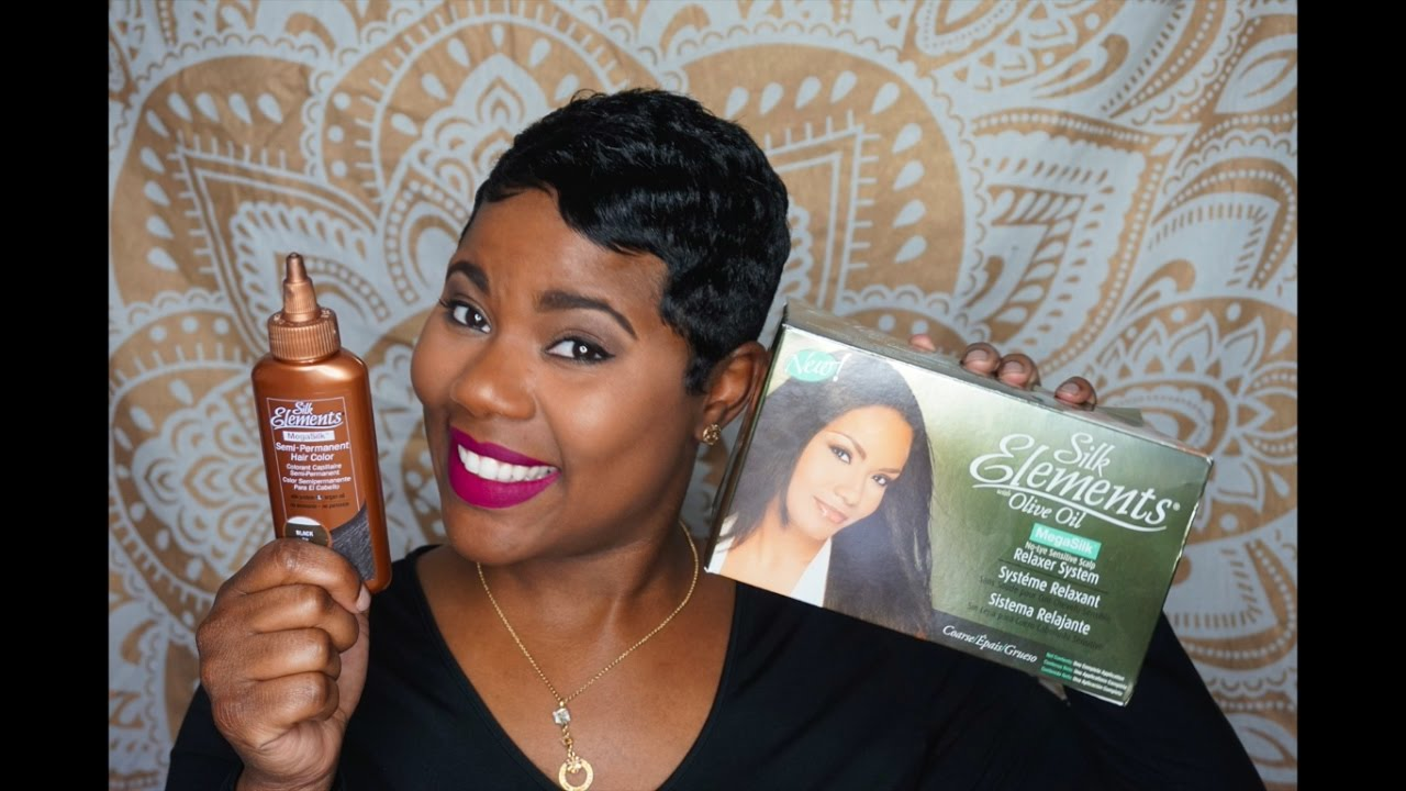 My Relaxer And Color Routine Youtube