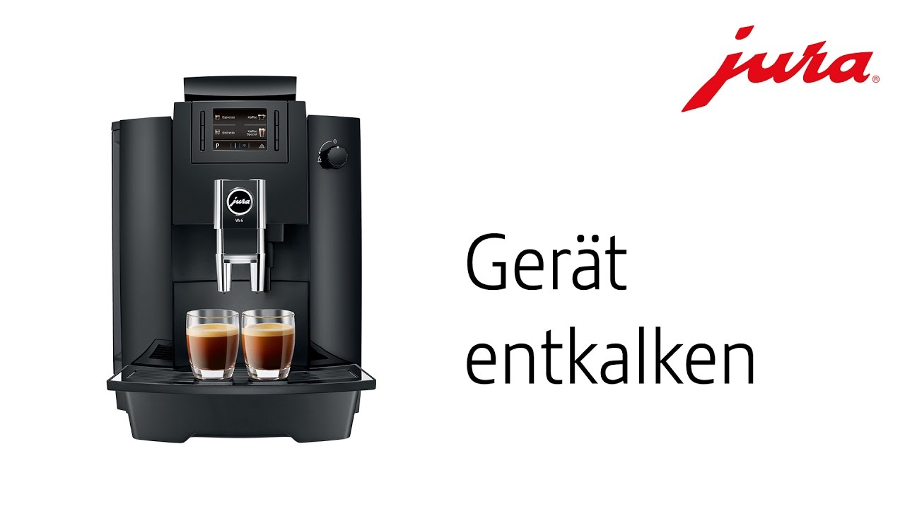JURA WE6  Gerät entkalken  YouTube ~ Kaffeemaschine Jura Entkalken