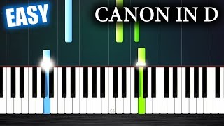 Canon in D - EASY Piano Tutorial by PlutaX