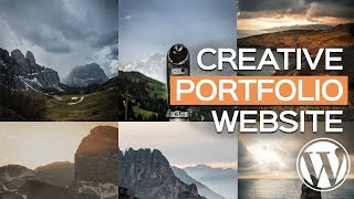 BUILD a photo PORTFOLIO WEBSITE in UNDER 10 minutes with a FREE WordPress Theme
