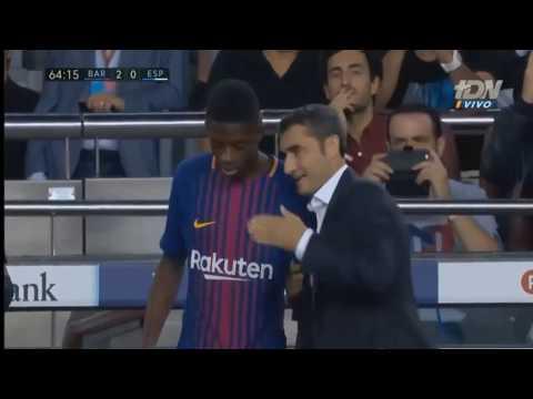 Debut Ousmane Dembélé - FC Barcelona vs RCD Espanyol - 09.09.2017