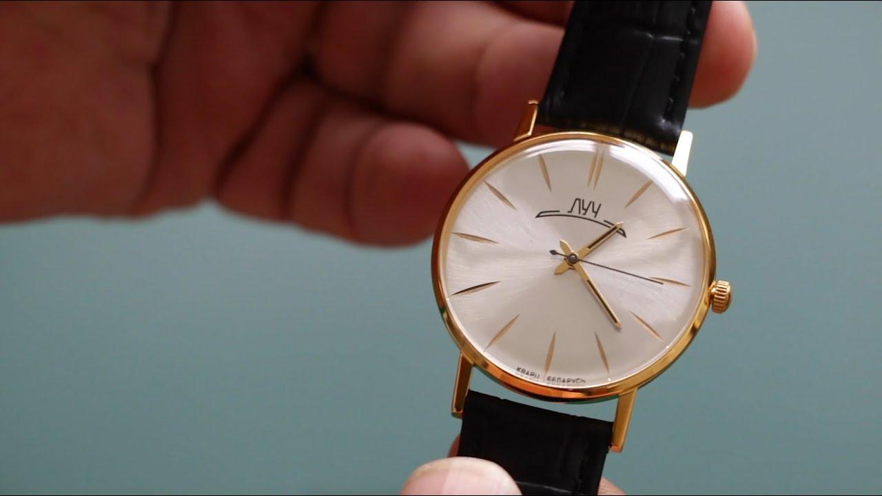 5 100 р. Купить; часы луч 395318596. Механический ход; часы на браслете; покрытие: червонное золото; минеральное стекло; с использованием.