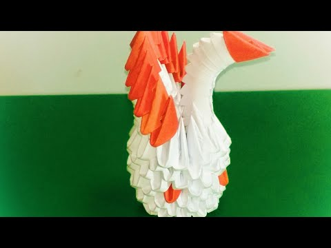How to make an origami Swan with paper.