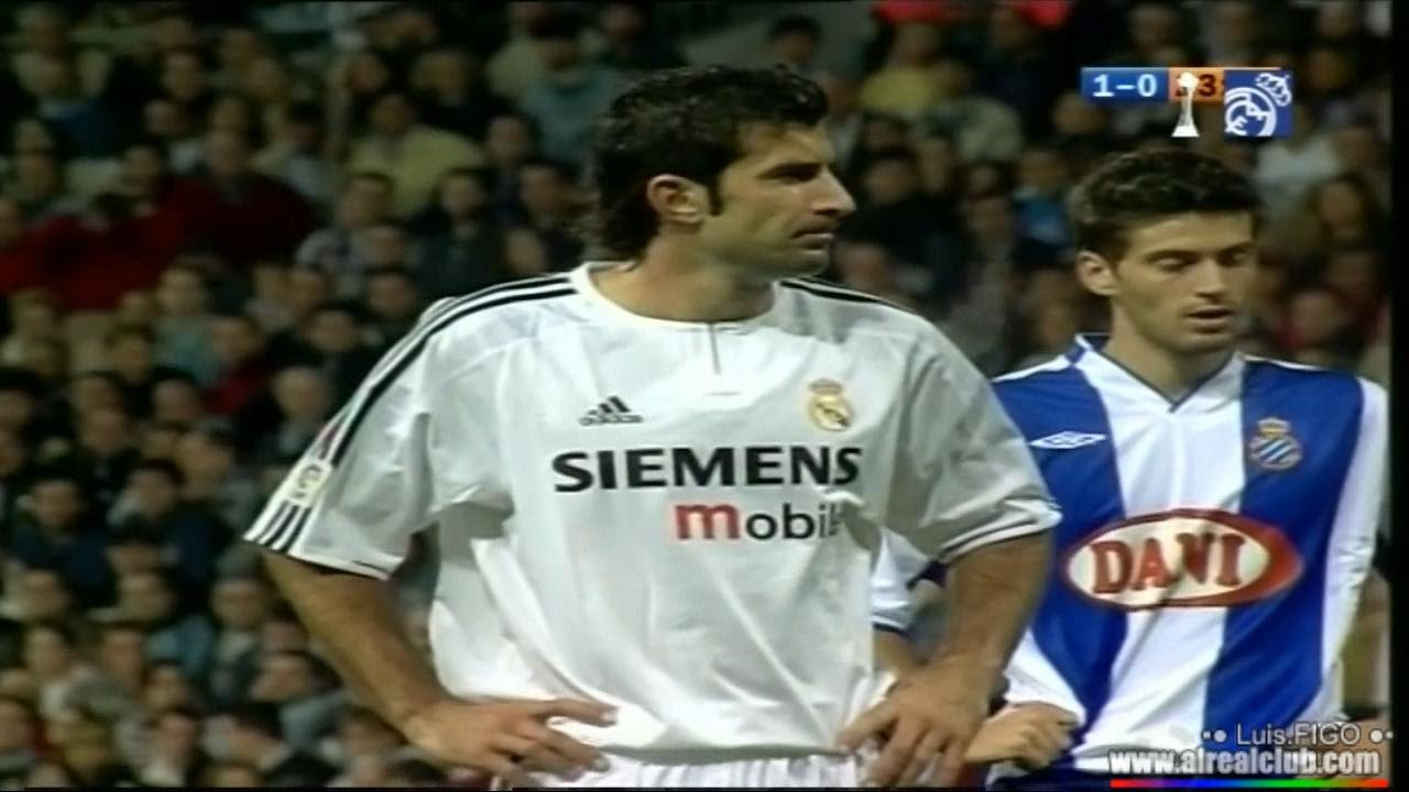 80518082f real madrid vs Espanyol 2003 2004 2-1 figo zidane ronaldo beckham - YouTube