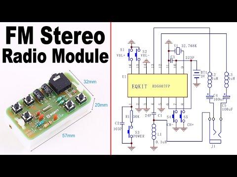 DIY FM Stereo Radio Module 76-108MHz - KIT ICStation