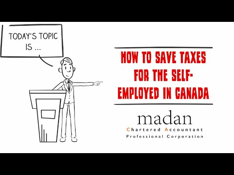 How To Save Taxes For The Self Employed In Canada