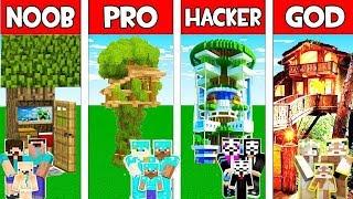 Minecraft Noob Vs Pro Vs Hacker Vs God  Family Tree House In Minecraft  Animation