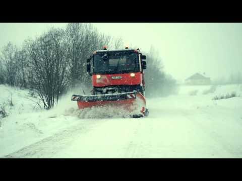 A Renault Trucks K range snowplow in Lithuania