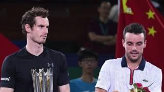 El británico Andy Murray sumó su tercer título en el Abierto de Shanghai