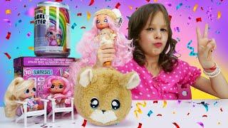 Видео для девочек. Новая Большая ЛОЛ - Распаковка куклы Nanana Surprise! Новые игры онлайн.