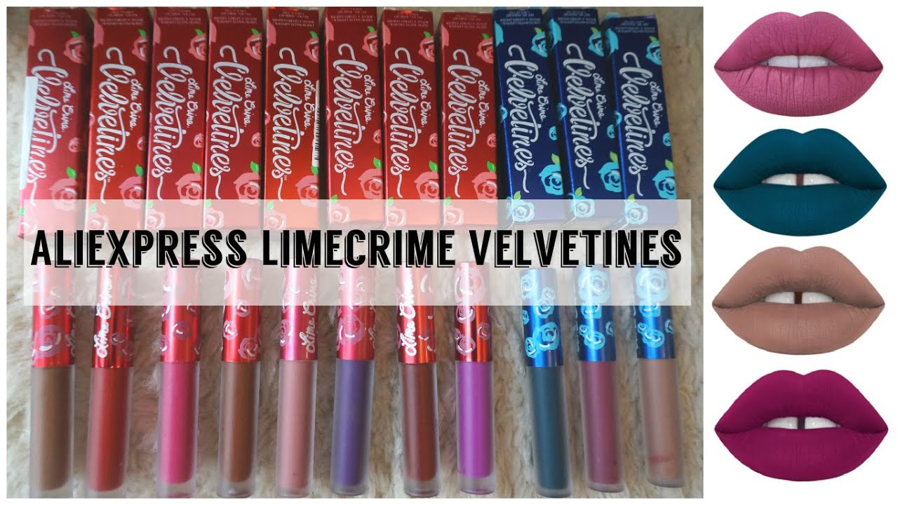 1 Lime Crime Velvetines!? Aliexpress Lime Crime Review and ...