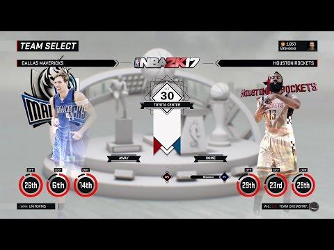 [NBA 2K17] Dallas Mavericks vs Houston Rockets [Oct 30][1080p60]