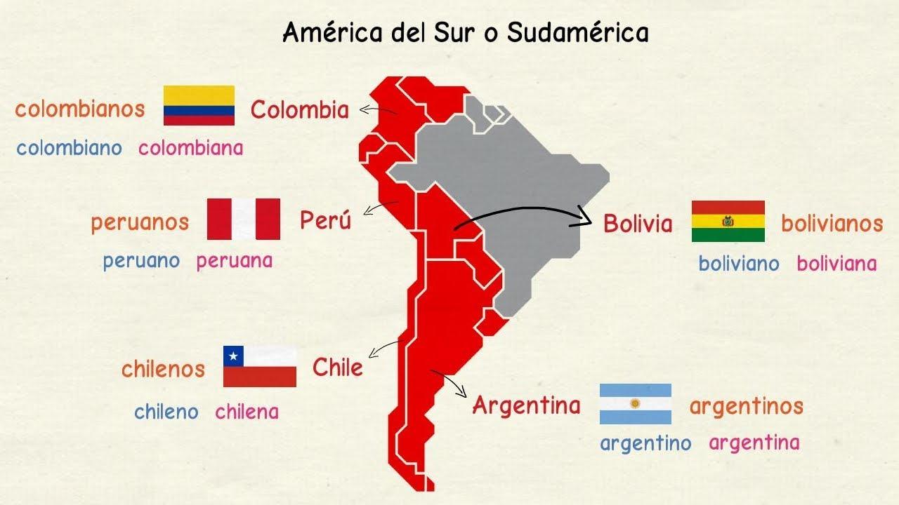 Aprender Espanol Paises De Habla Hispana Y Nacionalidades Nivel Basico Youtube