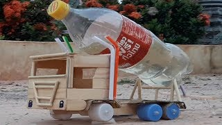 How to make Water supply truck who made from ice cream wood