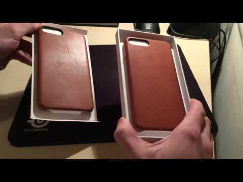 iPhone 7+ Fake vs. Original Apple Saddle Brown Leather Case