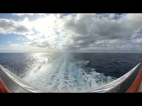 Carnival Splendor Aft Balcony 360 video Gopro Fusion
