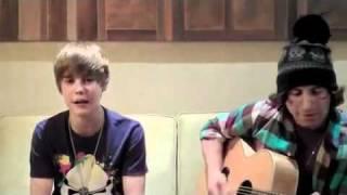 """Justin Bieber"" singing ""Baby""  acoustic Guitar"