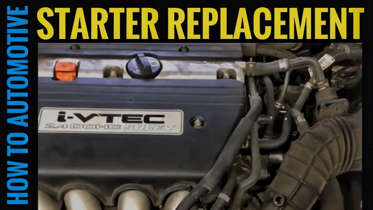 how to replace the starter on a 2006 honda accord with a 2. Black Bedroom Furniture Sets. Home Design Ideas