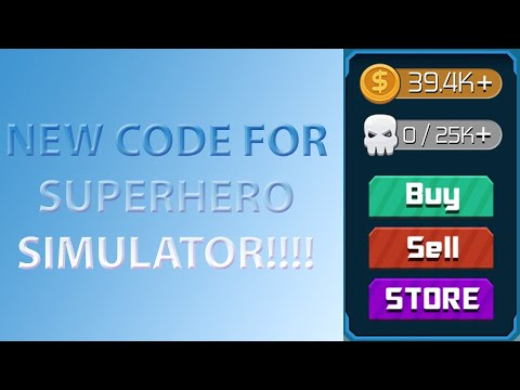 NEW ROBLOX SUPERHERO SIMULATOR CODE (APRIL 2019)