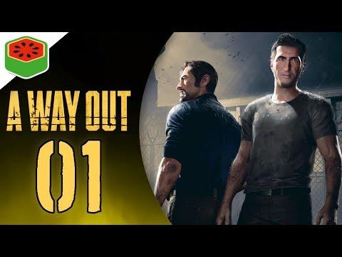 PRISON BREAK! | A Way Out Co-op Let's Play #1