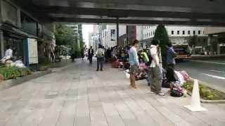 IPhone 6 line Tokyo Ginza Apple store Sep 2014