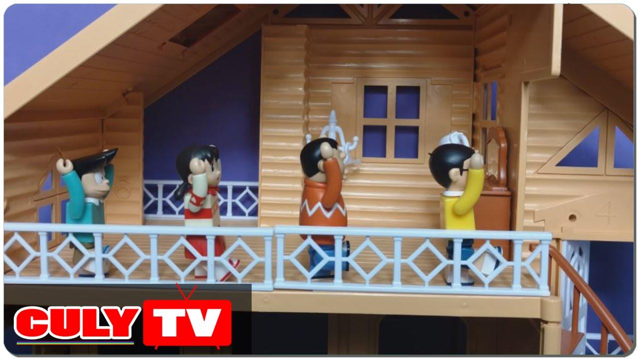 đồ chơi Doremon hài – Nobita ngủ nướng tập thể dục buổi sáng xuka chaien xeko doraemon toy