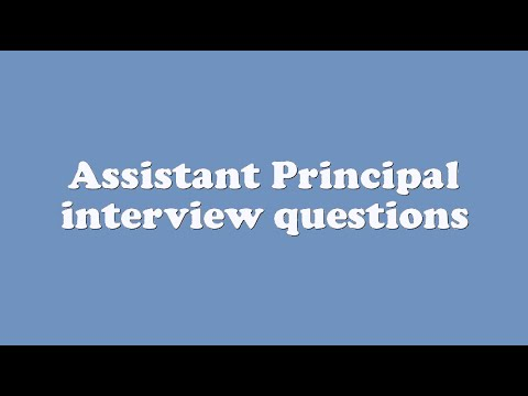 Assistant Principal interview questions - YouTube