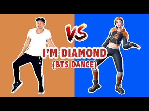 FORTNITE I'M DIAMOND (DANCE TUTORIAL) | FORTNITE DANCES IN REAL LIFE