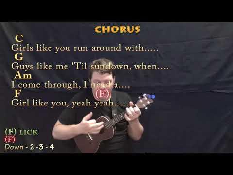 Girls Like You (Maroon 5) Ukulele Cover Lesson In C With Chords/Lyrics