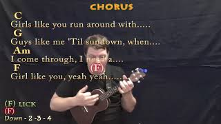 Download Girls Like You (Maroon 5) Ukulele Cover Lesson in C with Chords/Lyrics Mp3
