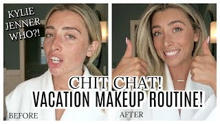 GET READY WITH ME: VACATION MAKEUP! FUN CHIT CHAT VLOG! | Lauren Elizabeth