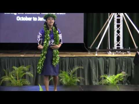 Exceive Papa Youth Representative for Climate Change Cook Islands Workshop