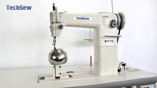 Techsew 810 Post Bed Sewing Machine with Wig Attachment